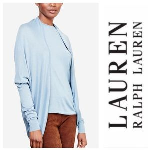 LAUREN Ralph Lauren Open Cardigan Blue